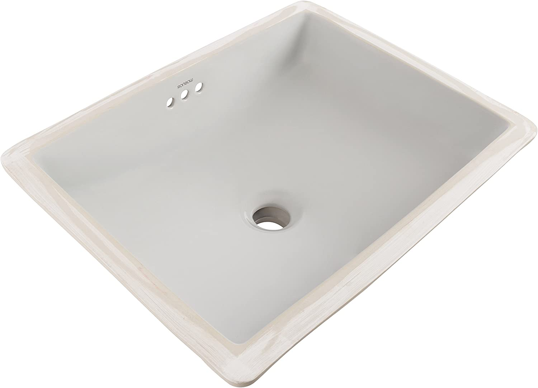 Ronbow Plane 20 Rectangle Undermount Ceramic Bathroom Sink In Cool Gray 200520 Cg Bathroom Sinks Tools Home Improvement Fcteutonia05 De