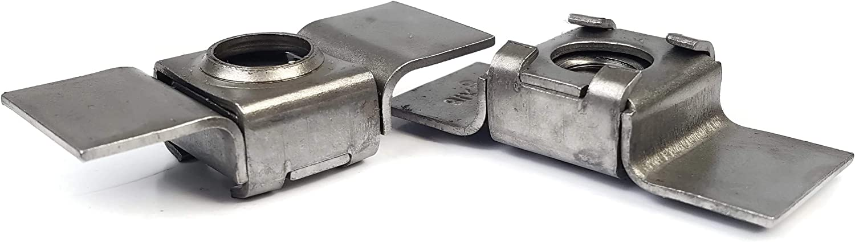 Retainer Weld Nuts Plain Steel 3//8-16 QTY 10