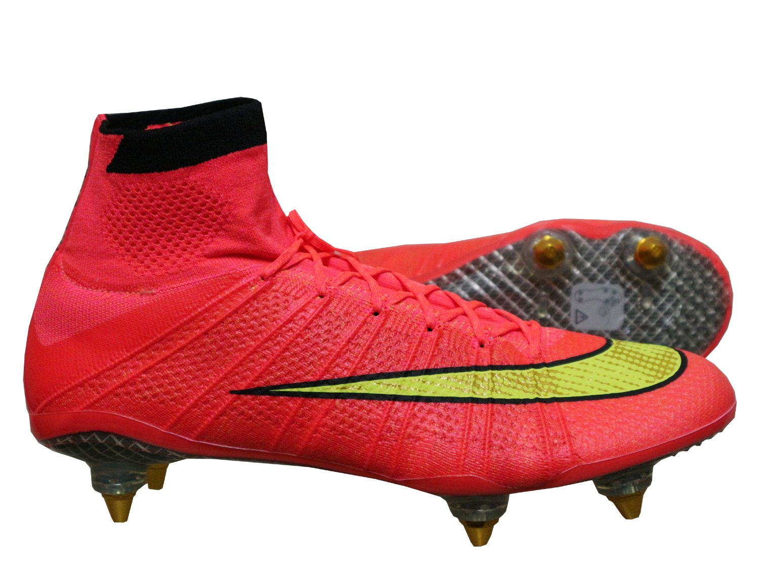 c126f93bba26c Nike Mercurial Superfly SG Studs Football Boots with Compression Socks Red:  Amazon.co.uk: Sports & Outdoors