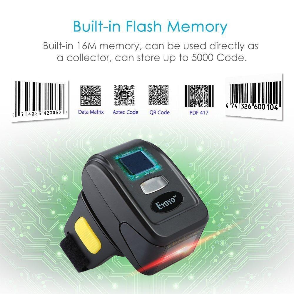 fe0b4044a4066 Eyoyo Portable QR Bluetooth Escáner de Código de Barras inalámbrico 1D 2D  Mini Lector de Código de Barras Soporte Scan PDF417 Data Matrix   Amazon.com.mx  ...