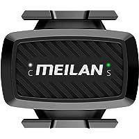 MEILAN C1 Snelheidssensor en trapfrequentiesensor, dubbele modus Bluetooth ANT+ draadloze fietssnelheidssensor…