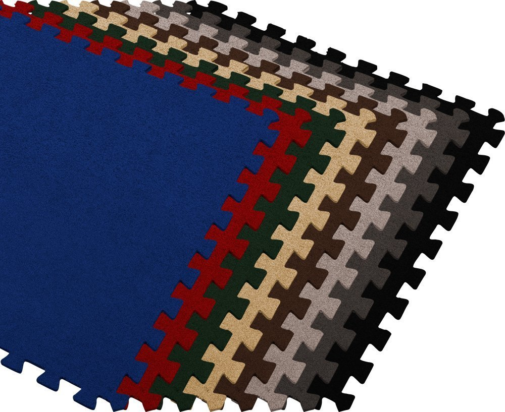 We Sell Mats CRT24BURG4.1-10M Carpet Interlocking Floor 2'x2' (Burgundy, 100 Sqft (25 Tiles + Borders))