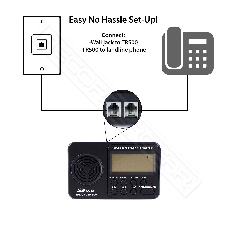 Amazon Recordergear Tr500 Landline Phone Call Recorder