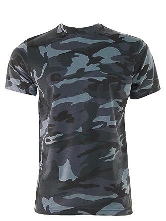 217bb24a Mens GAME Camouflage Short Sleeve Crew Neck T Shirt: Amazon.co.uk: Clothing