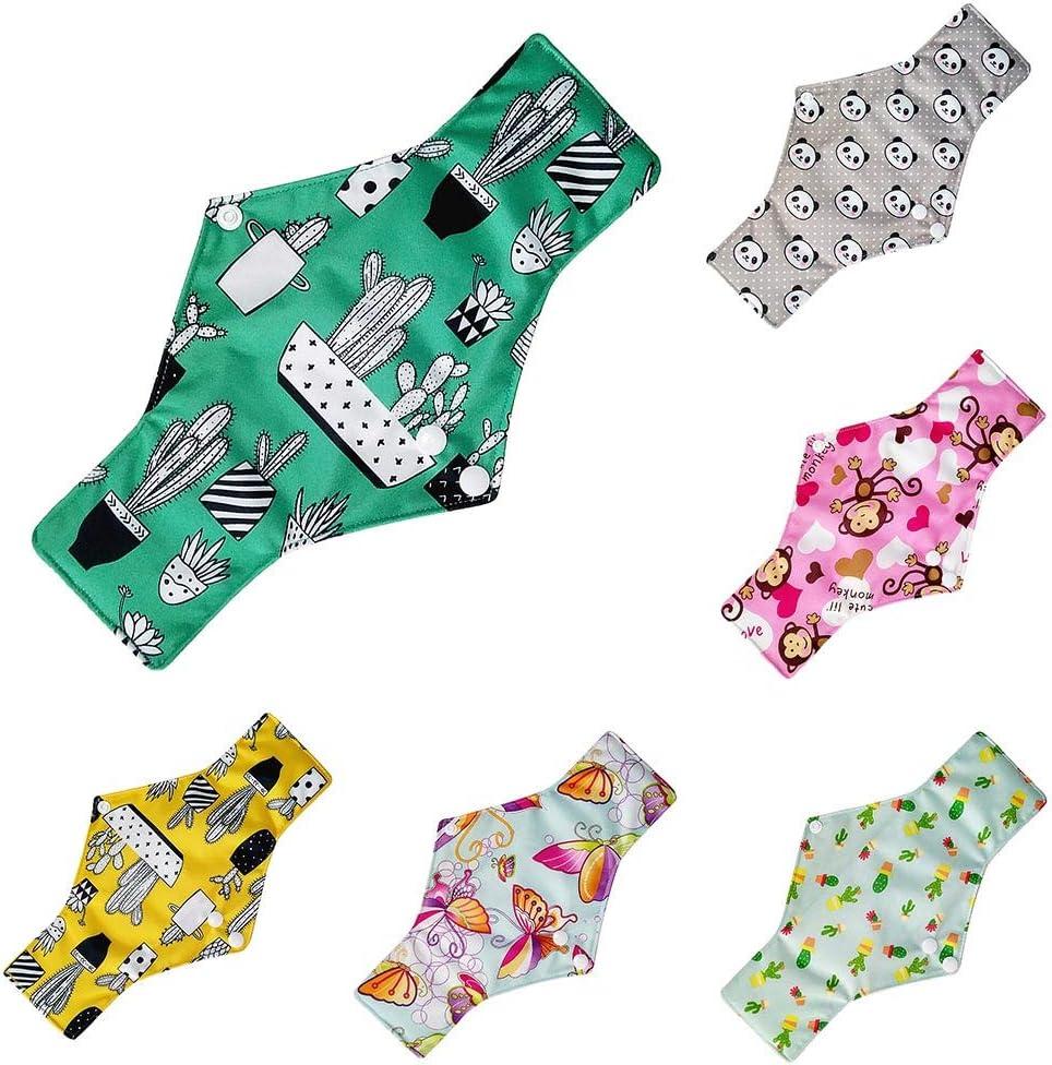 C Rameng Prot/ège-slips Lavables Serviettes Hygi/éniques R/éutilisables Pads Menstruel Chiffon