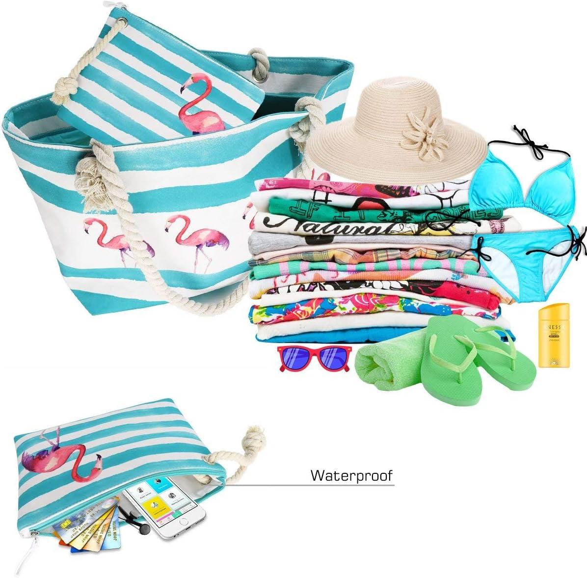 sacs d/épaule en toile demballage de voyage avec fermeture /à glissi/ère FARI Grand sac de plage Ananas
