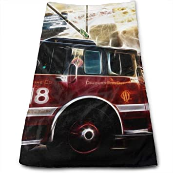 Wcmby Fire Truck Wallpaper Interest Towels Multi Purpose