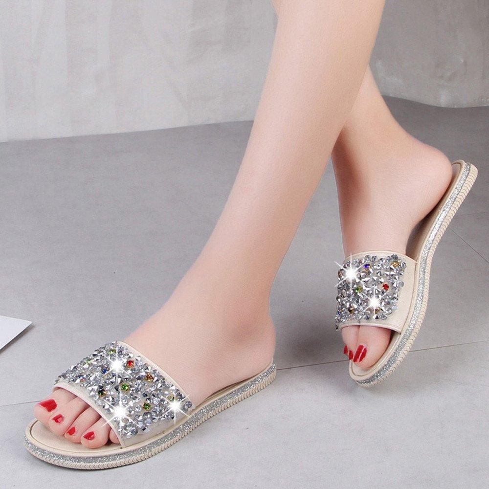Sandalias Mujer Verano,YiYLinneo Antideslizante Chancletas Zapatillas De Fondo Grueso Flip Pizca Chanclas Zapatos De Playa Flipflop Sandalias: Amazon.es: ...