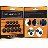 Cable Management Clips - A 14 Pack Cord Organizer Kit for Wire Management | Cable-Manager