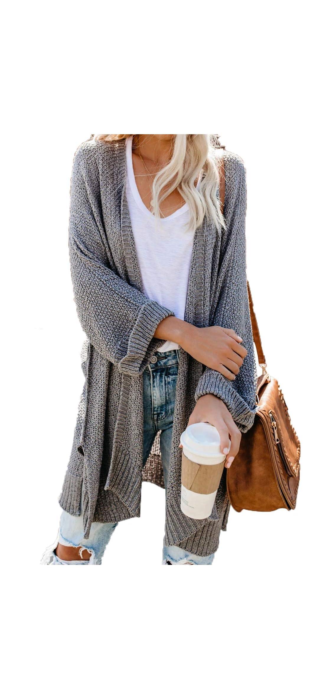 Womens Lightweight Solid / Sleeve Split Knit