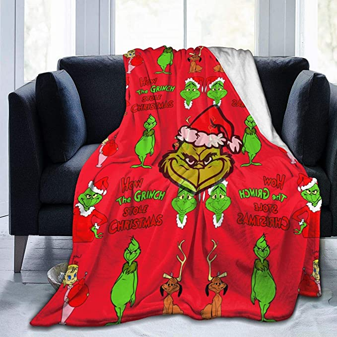 "Details about  /The Grinch Stole Christmas Blanket Super Soft Velvet Warm Fluffy Blanket 50x40/"""
