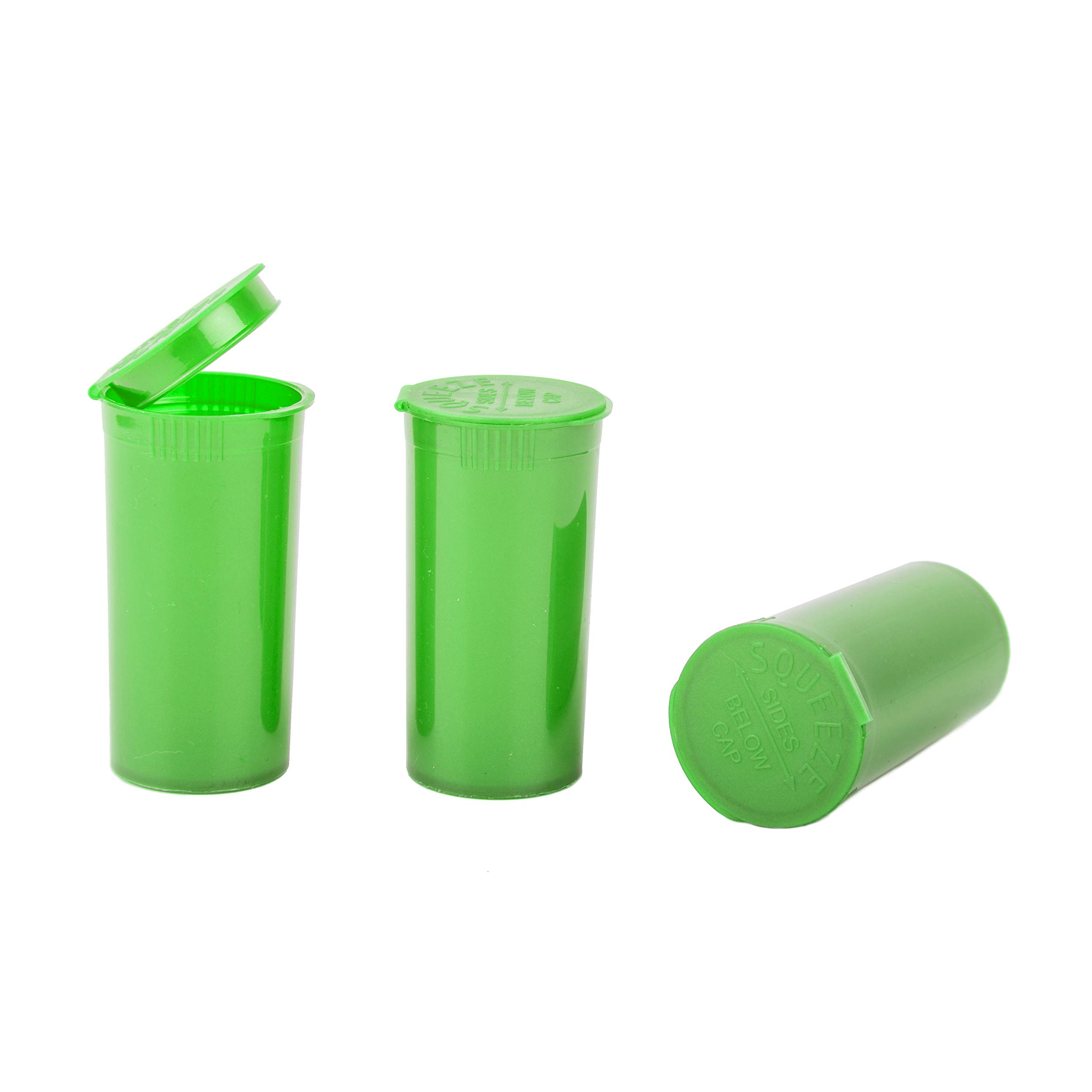 Loud Lock - Pop Top Vial Container Bottles - 13 Dram Size - 315 Count Case (Green)