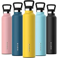 OISHHI Vacuum Insulated Triple-Wall Water Bottle with Leak Proof Cap