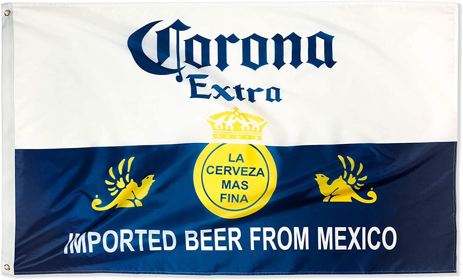 TOAUOT Drink Flag for Corona Beer 3x5 FT Flag Bar Party Banner Polyester with Brass Gromments