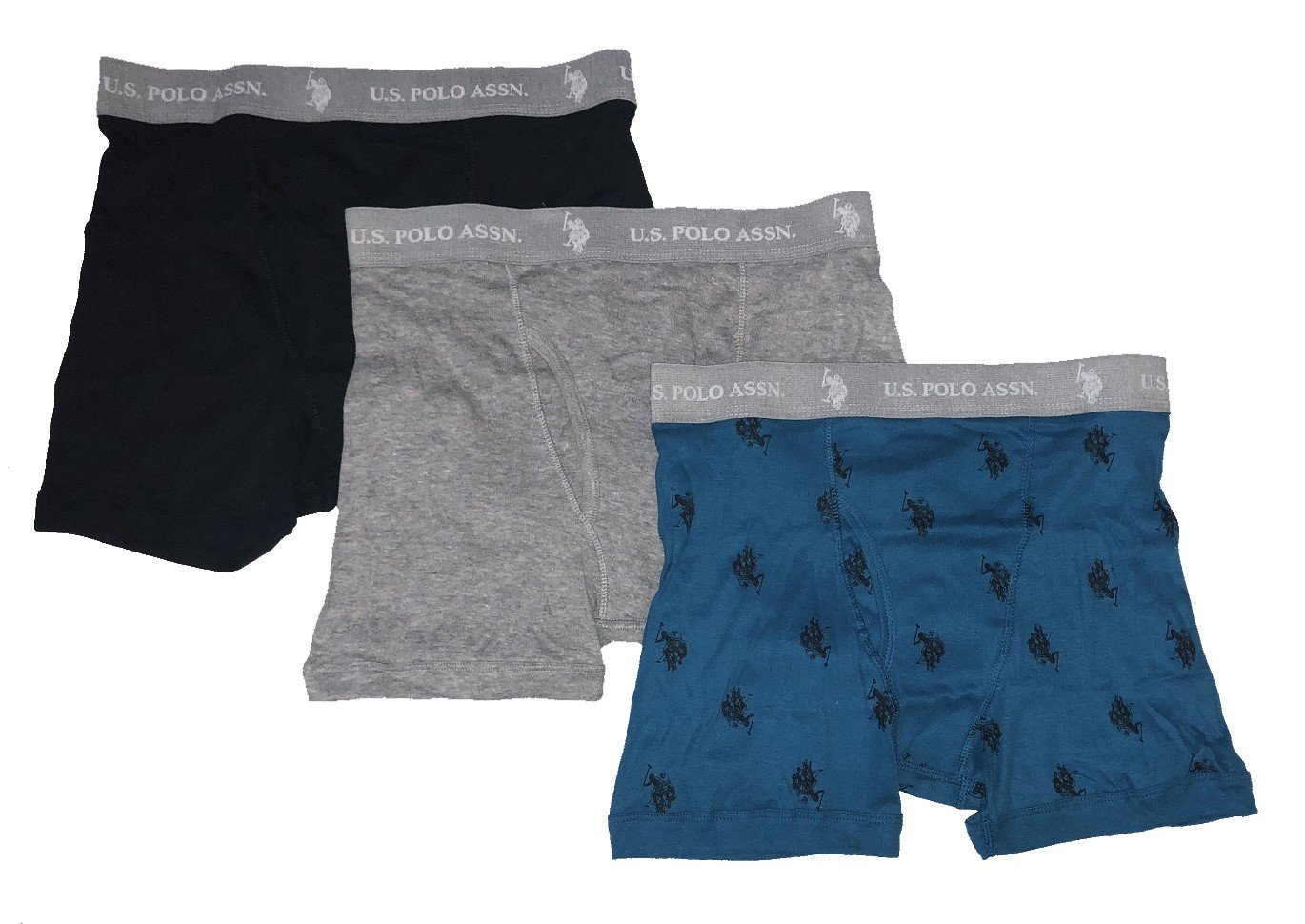 U.S. Polo Assn. UNDERWEAR メンズ X-Large|Black/ Heather Grey/ Turquoise Black/ Heather Grey/ Turquoise X-Large B079SNB9VY