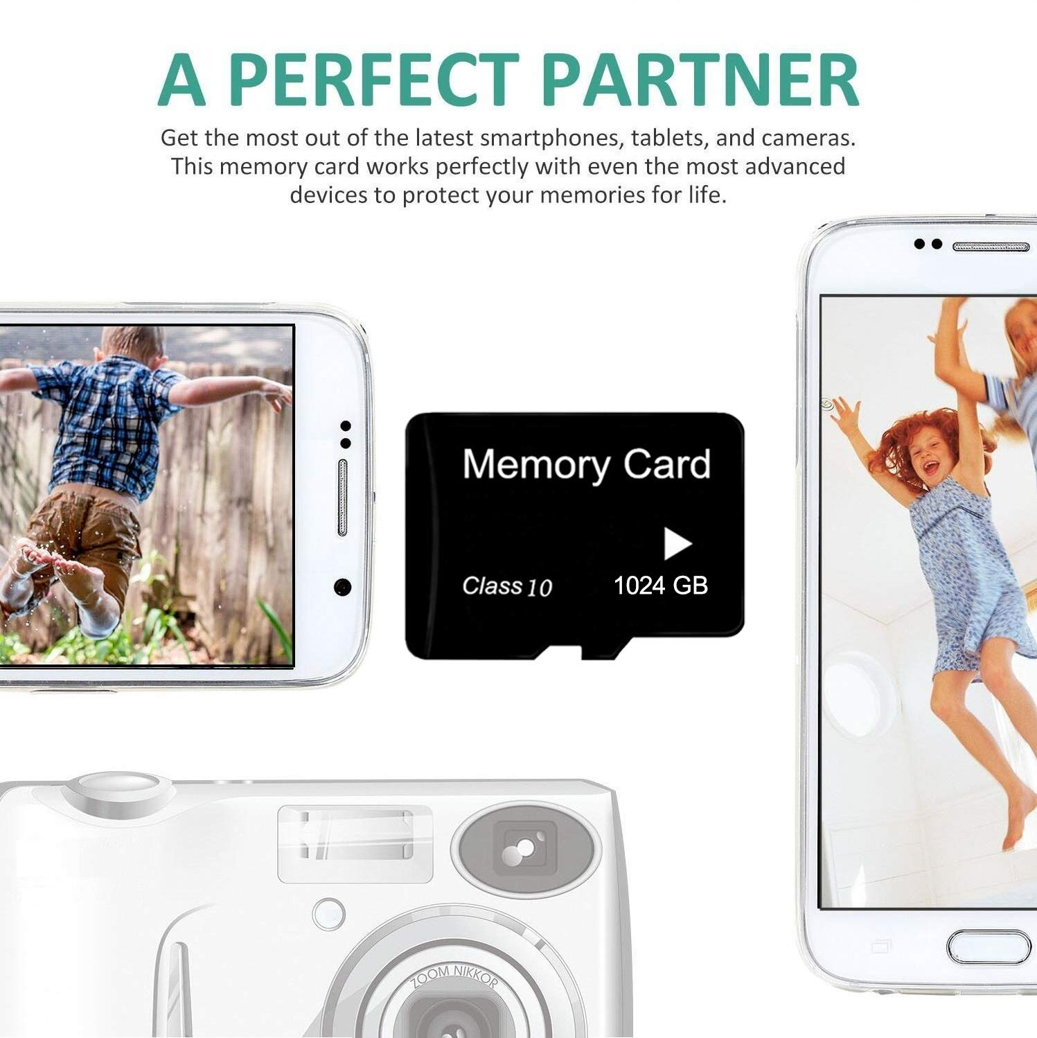 Micro Memory Card 1024GB High Speed Class 10 TF Card with Adapter for SD Card SD SDXC Card for Cell Phone Camera MP3 1TB by Ex Card (Image #3)