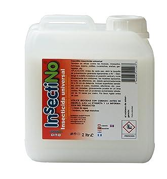 InsectiNo Insecticida universal - 1 x bidón 2 ltr - contra las moscas, mosquitos, hormigas, ácaros, polillas, cucarachas, arañas, garrapatas: Amazon.es: ...