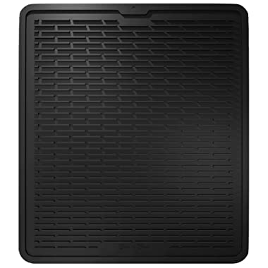 Silicone Dish Drying Mat - Kitchen Sink Organizer - Waterproof Countertop Mat (XL, BLACK)