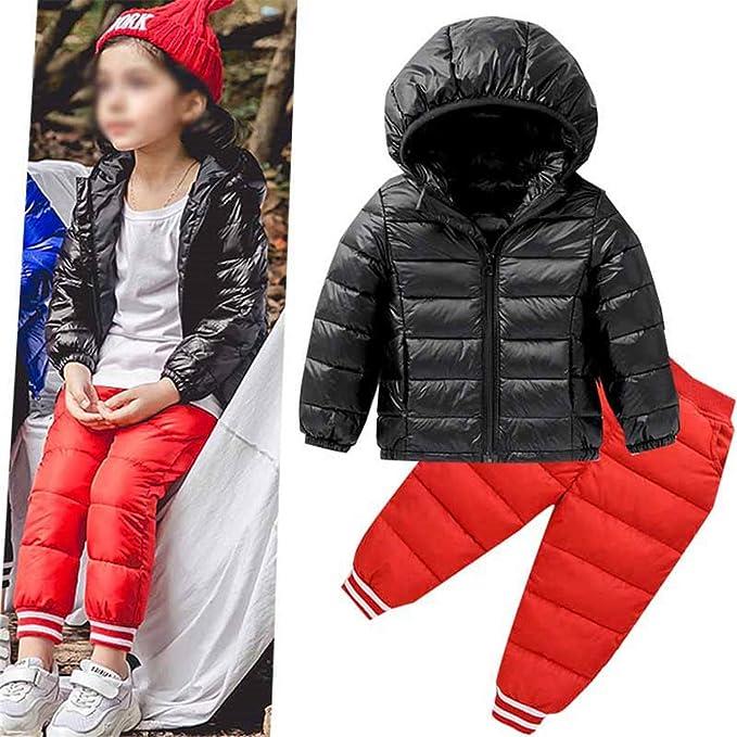 f57b3ba26 Reveryml Niña Pantalones Ropa de Invierno para niños Ropa de ...