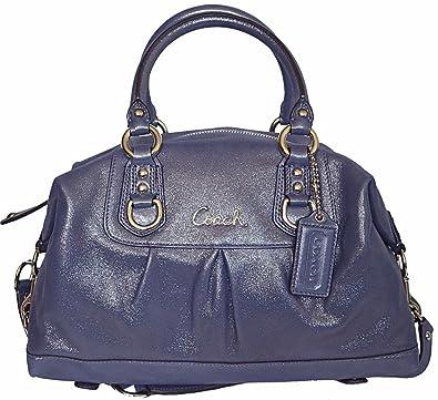fa2829d5c7 Coach Ashley Leather Satchel Style  F15445 in Iris  Handbags  Amazon.com