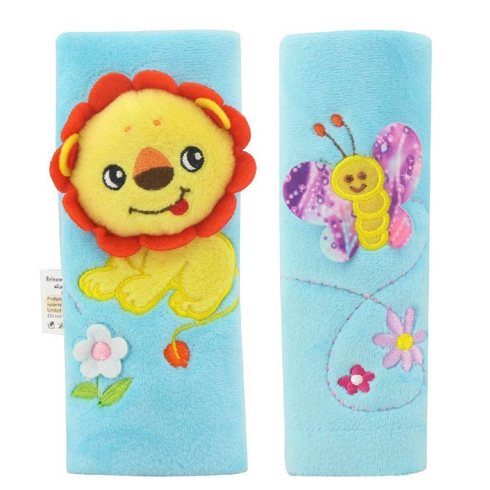 Infant and Baby Car Seat Strap Covers,Stroller Belt Covers,Head Support Shoulder Pads