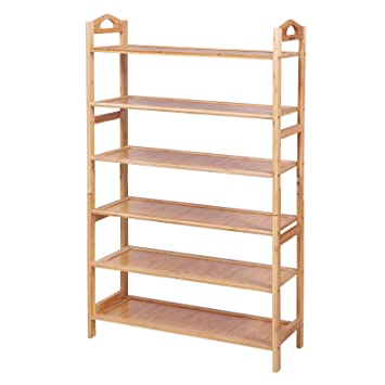 b6249db5e797f7 SONGMICS 6-Tier Shoe Rack Shelf