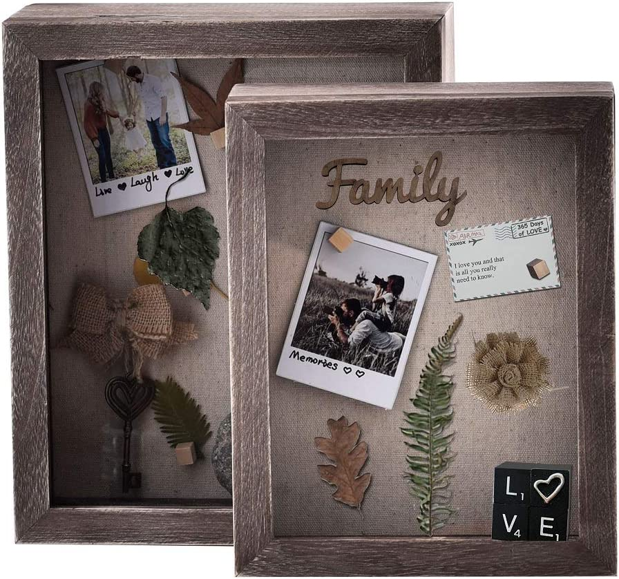 Homish Shadow Box Frame Picture Frame Shadow Display Box Ideas to Make Memory Box Set 8X10in and 9X11in