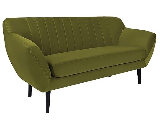Mazzini Sofas - Sofa, Toscana, 2 plazas, Verde Botella, 158 ...