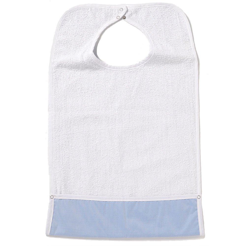 NorthShore ShirtSafe Bib, White Terry, Pack/3