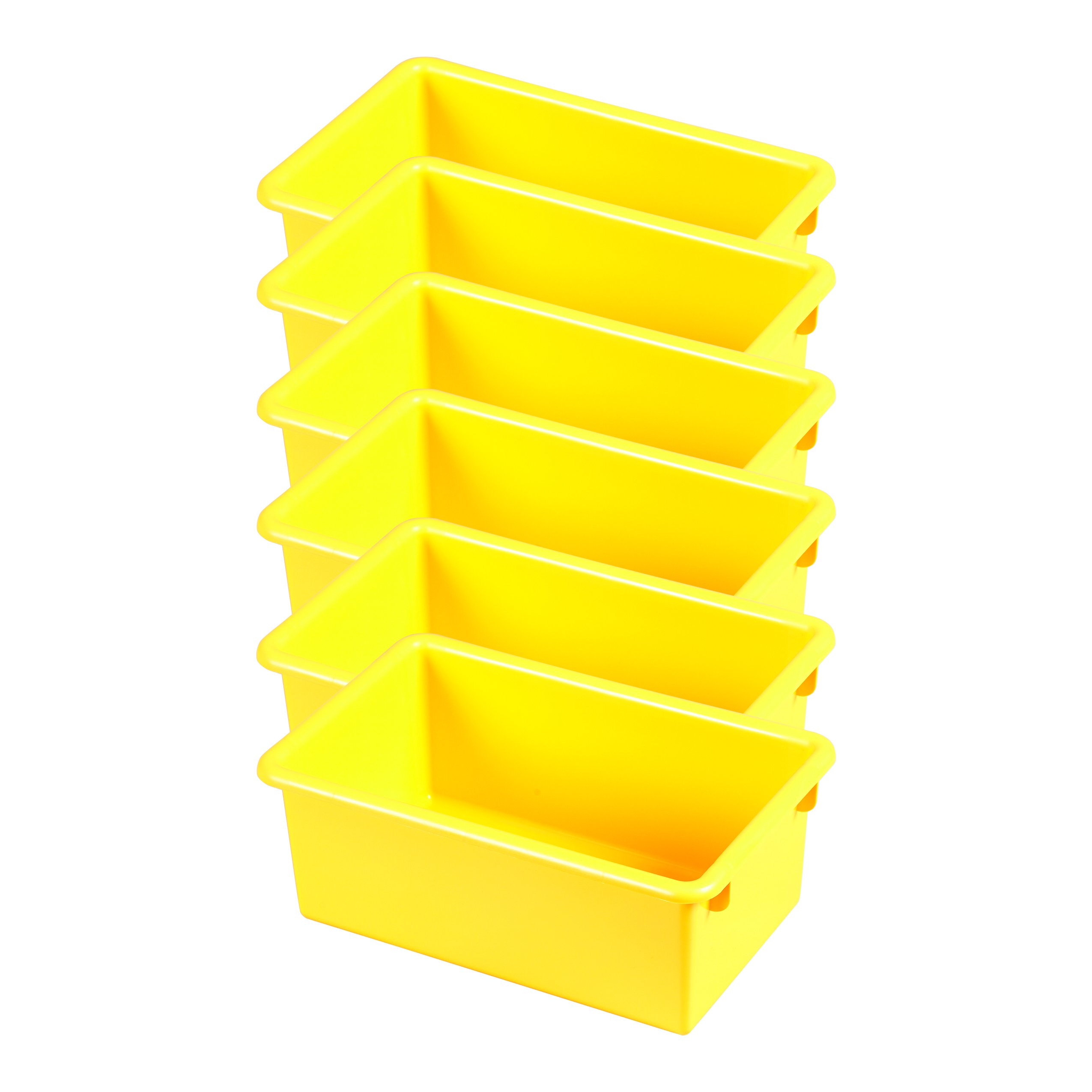 ECR4Kids Stack and Store Tubs, Yellow (6-Pack)