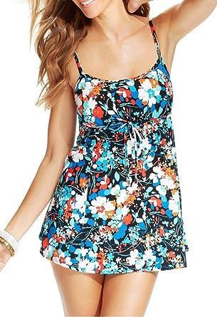 51523c2d1bbbe Swim Solutions Women s Empire Waist Swimdress at Amazon Women s Clothing  store