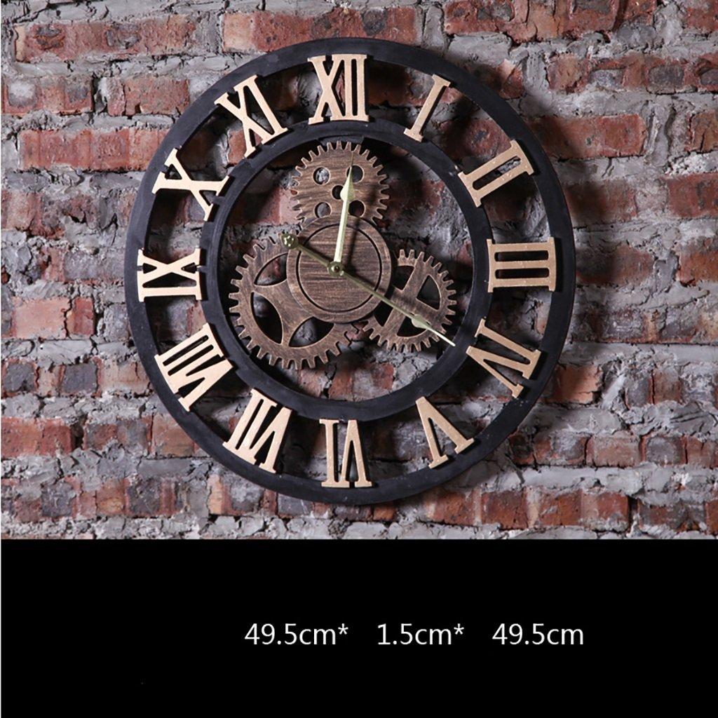 ウォールデコレーションバークリエイティブウォールの背景の壁のペンダントレトロ産業の風のスタイルの壁時計 (色 : 8#, 三 : Industrial retro) B07FMRLQPH8#