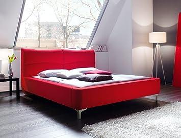 Expendio Polsterbett Cloude Bett 160x200 Cm Stoffbezug Rot