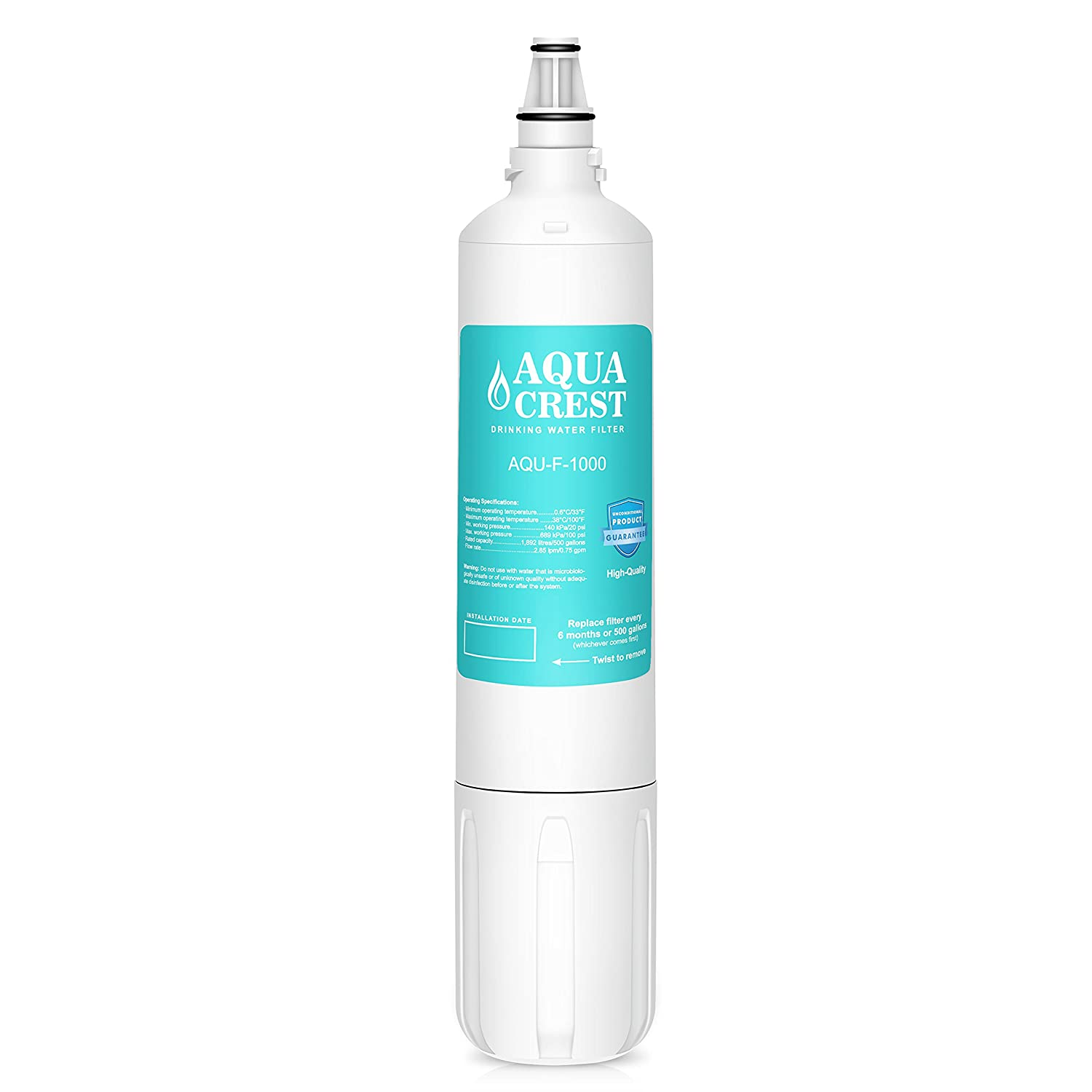 AQUACREST Replacement F-1000 Under Sink Water Filter, Compatible with InSinkErator F-1000, Sub Zero 4204490