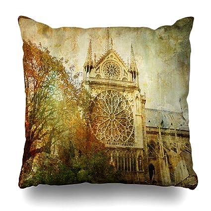 Amazon Com Ahawoso Throw Pillow Cover Chapel France Old