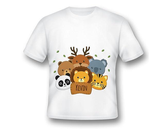 70b97885 Custom Jungle PARTY Shirt, Animlas T-Shirt, Kids Safari Tee Shirt, Custom  Name T-Shirt, Zoo Shirt, Shirt for Kids, zoo birthday, jungle birthday, ...