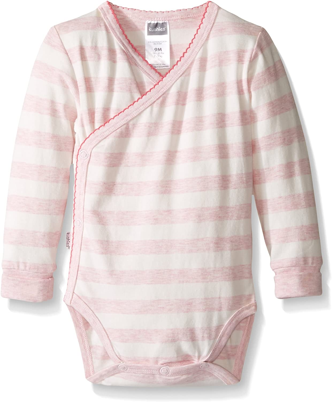 Kushies Baby Infant Short-Sleeves Bodysuit Light Grey 3 Months
