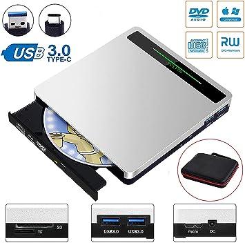Amazon.com: Grabador de CD 5 en 1 con lector de tarjetas SD ...