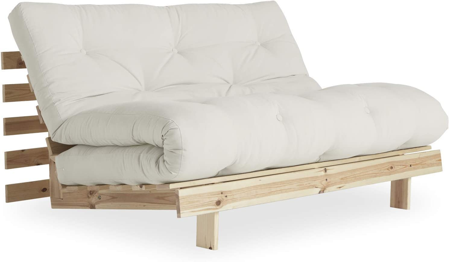 Roots Futon Sofa Bed by Karup Design - Easily converts into Day Bed   Natural Mattress Color