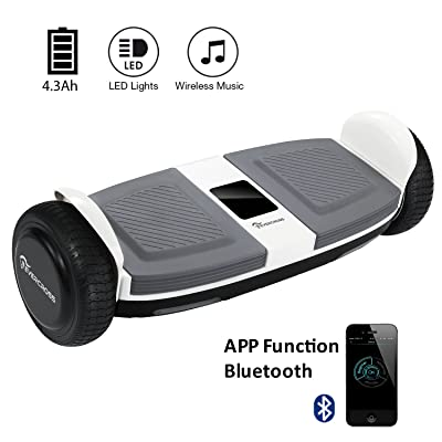 EVERCROSS Hoverboard MiniRobot Blanc Gyropode avec Bluetooth et APPLI, Équipé d'un Écran Digital Chic de Boutique GyroGeek