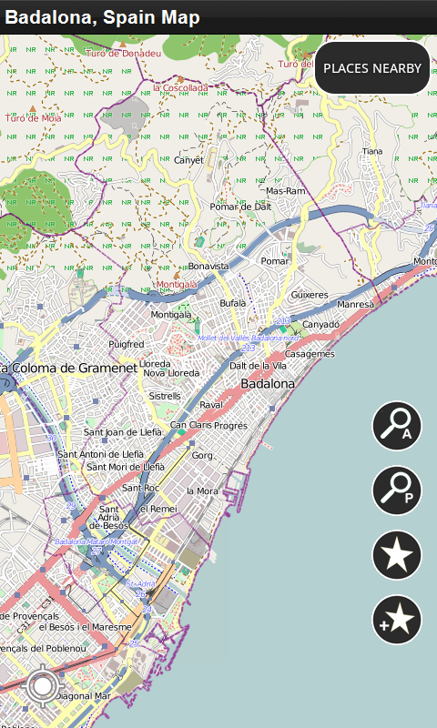 Amazoncom Badalona Spain Offline Map Appstore for Android