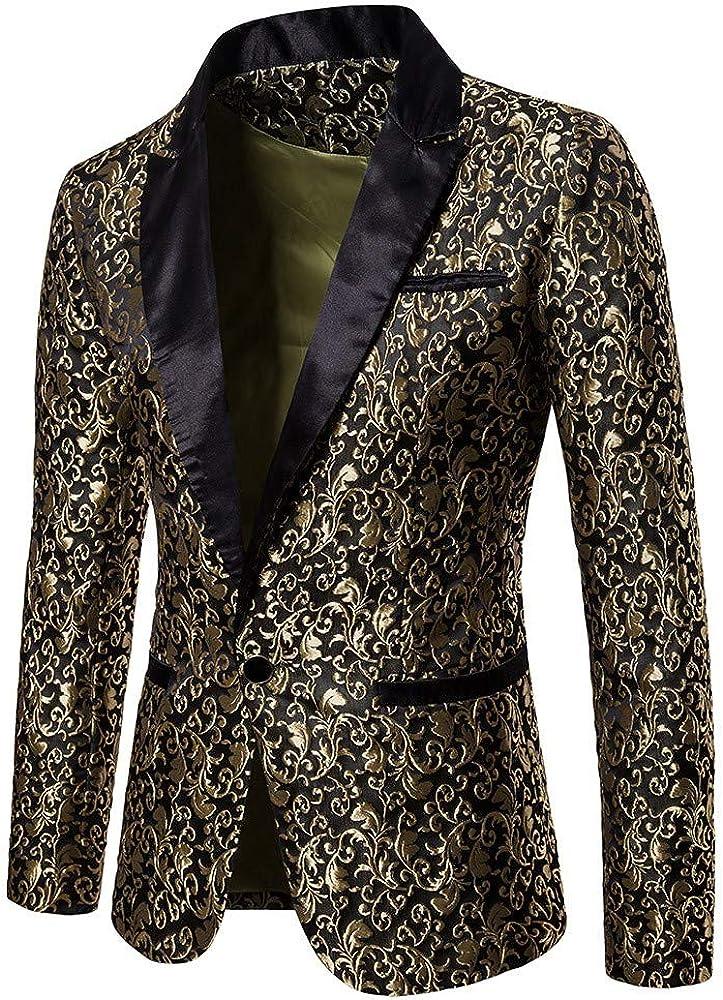 2019 Mens Casual Suit Jackets Sports Coats One Button Fit Suit Party Top Stylish Blazer Dress Suit Dress Suit for Men