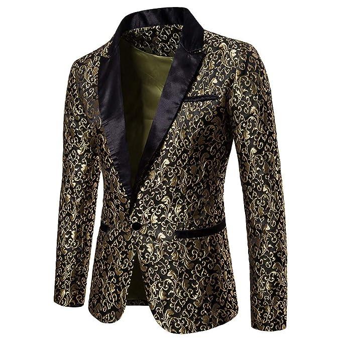 Mens Suit, Charm Mens Casual One Button Fit Suit Blazer ...