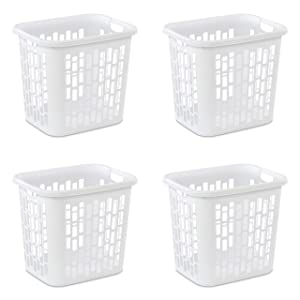 Sterilite 12318004 Laundry Hamper, White (4 pk.)