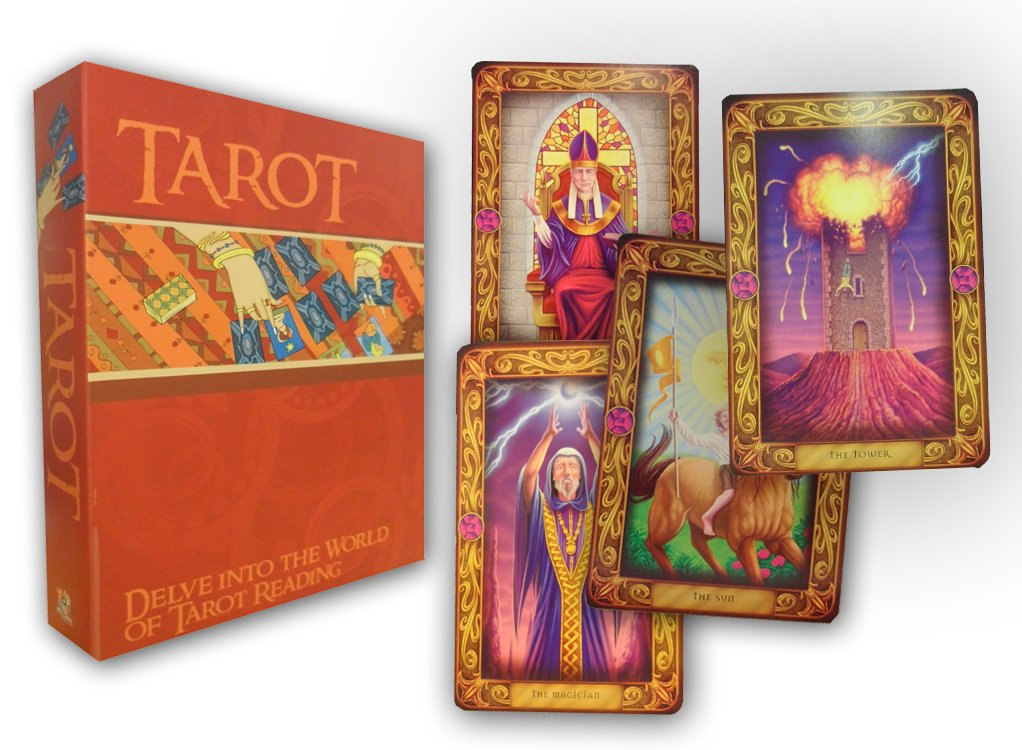 Easy Tarot Cards Deck and Book Set Collection Gift Pack Psychic Learn To Read: Amazon.es: Top That!: Libros