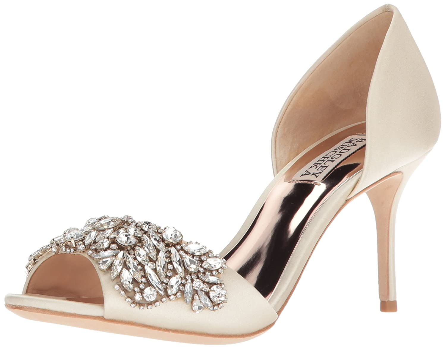 Ivory Badgley Mischka Womens Hansen Pump