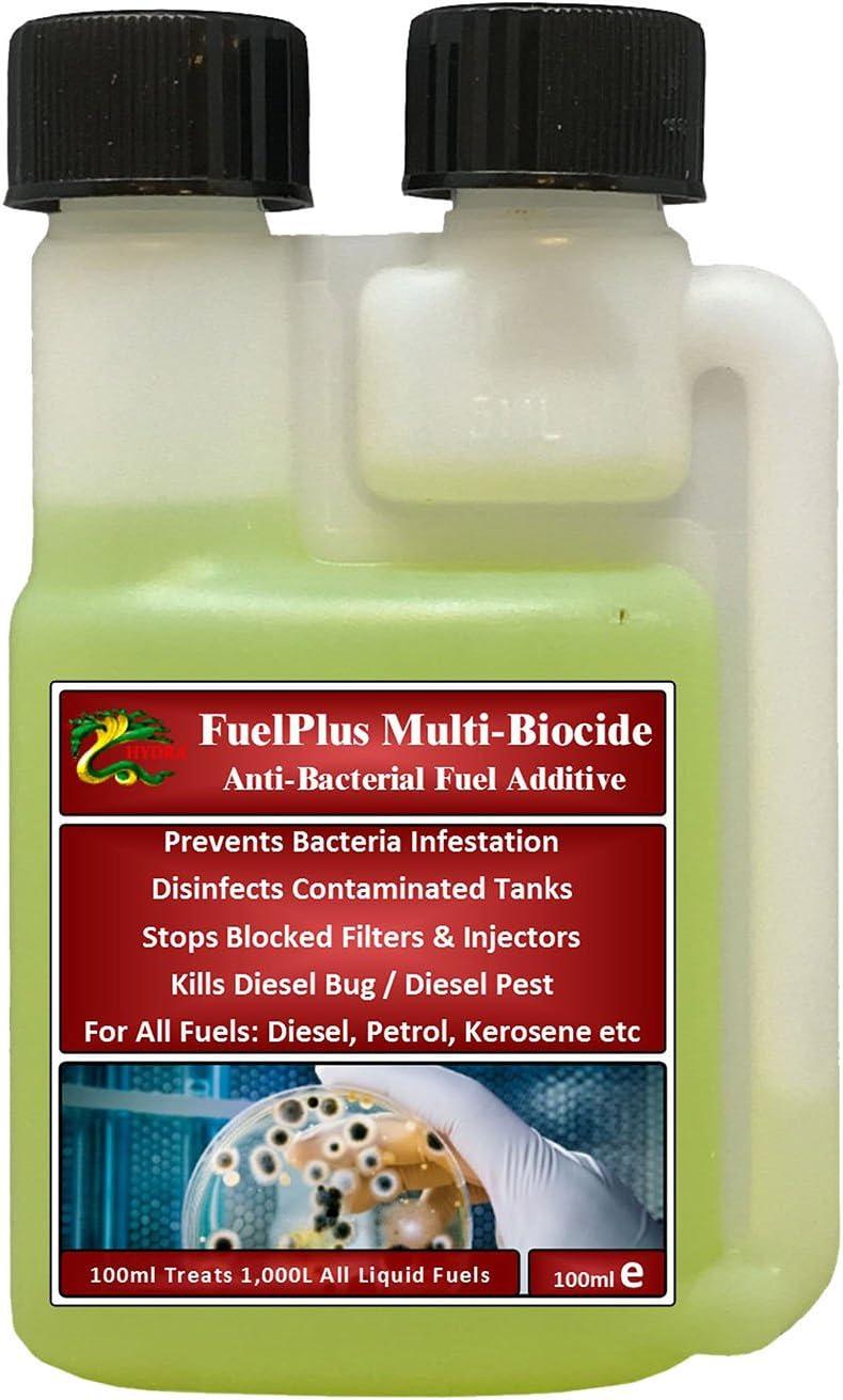 Aditivo de combustible FuelPlus de Hydra para el tratamiento multibiocida en depósitos marinos, botes, tanques de almacenamiento