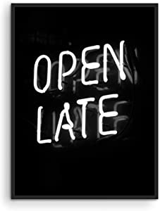 """Neon Posters Open Late Neon Sign - By Haus and Hues 