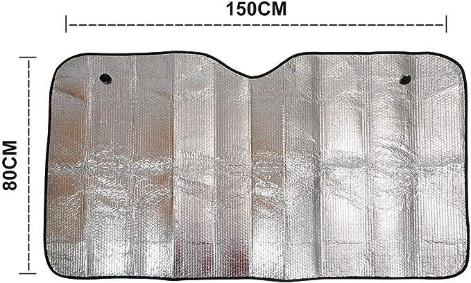 Sunwan Pare-soleil universel pour fen/être avant ultra /épais et pliable pour pare-brise 150 x 80 cm