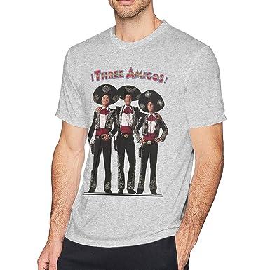 394260b2 Mei73youguan Mans The Three Amigos Retro 80's Movie Classic Tee Shirt S Gray